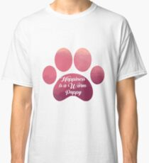 Warm puppy Paw - National Puppy Day Classic T-Shirt