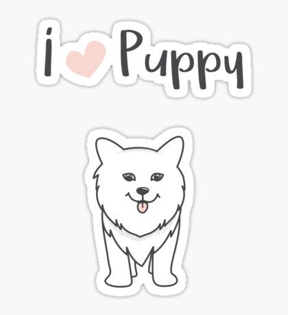 I love puppy Sticker