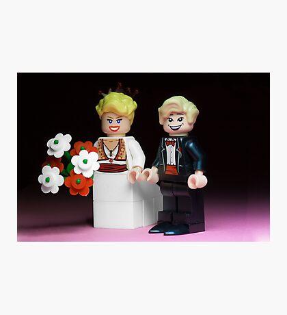 Lego Bride and Groom Photographic Print