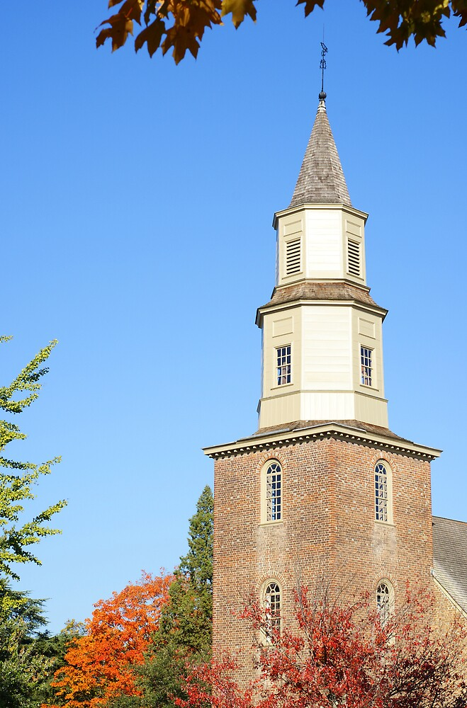 Bruton Parish Church in October by Marc Payne Photography