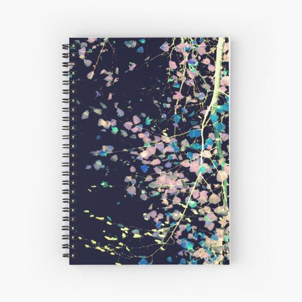 Nature Pattern # 4 - Birch (Blue) Spiral Notebook