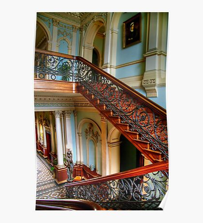 The Staircase at Werribee Mansion Poster