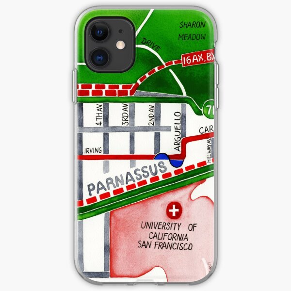 San Francisco map - Inner Sunset map iPhone Soft Case