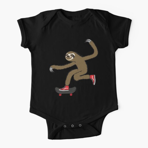 Skater Sloth Short Sleeve Baby One-Piece