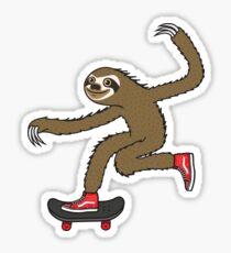 Skater Sloth Sticker