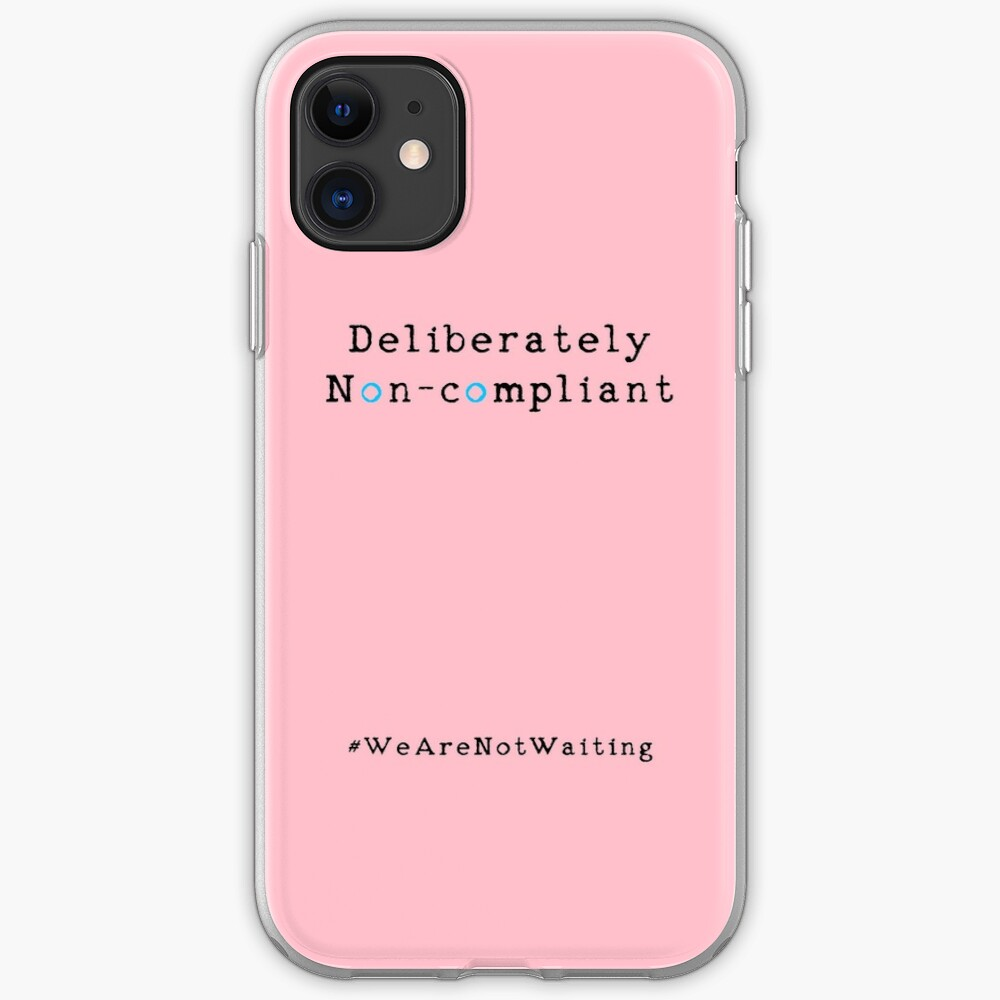 Deliberately non-compliant - pink phone iPhone Case & Cover