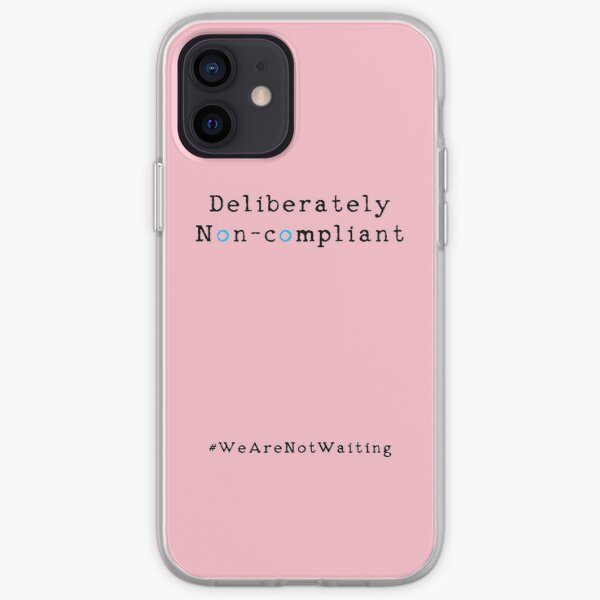 Deliberately non-compliant - pink phone iPhone Soft Case