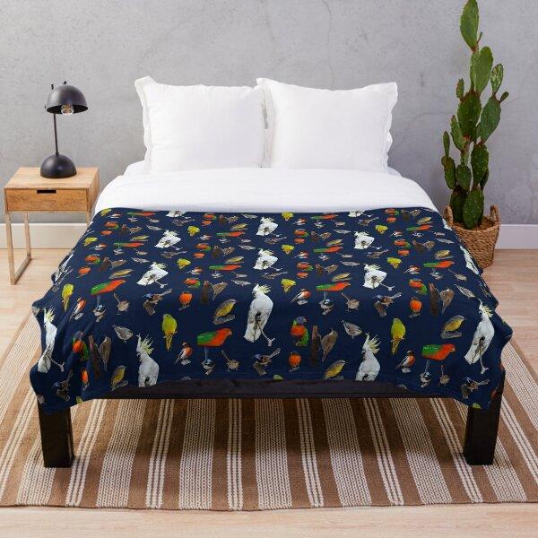 Australian Woodland Birds 5 Throw Blanket