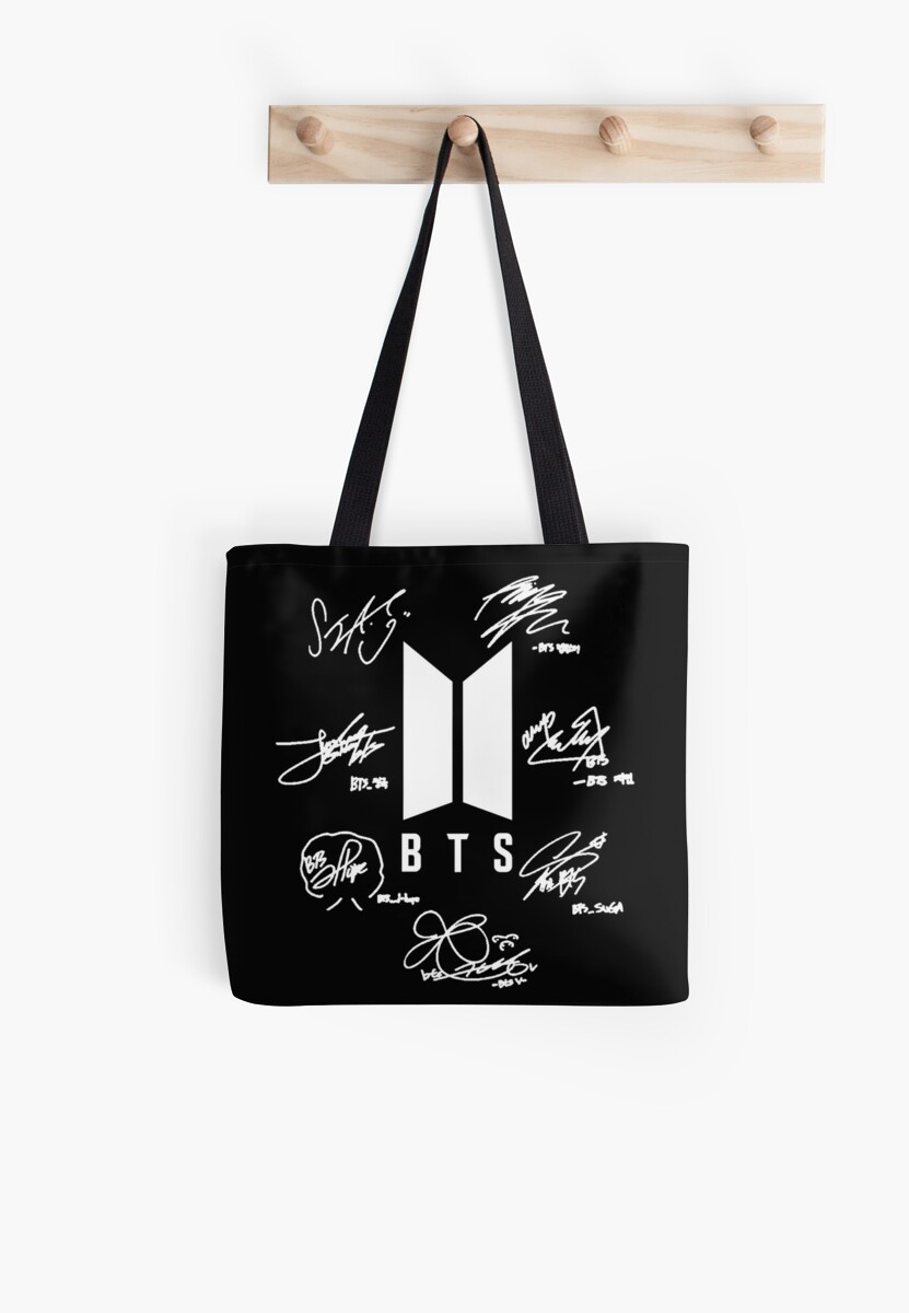 "BTS - Logo + signatures ""black"" by Joya Hatim"