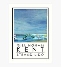 Lido Poster Gilliangham Strand Art Print