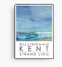 Lido Poster Gilliangham Strand Metal Print