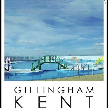 Lido Poster Gillingham Strand by stevenhouse