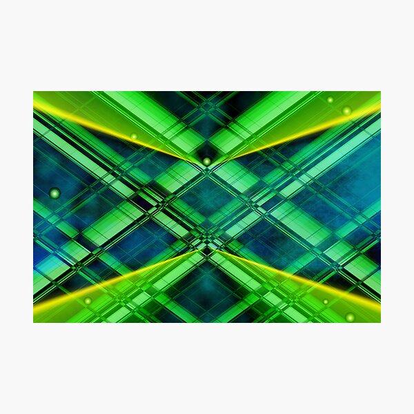 Abstrakt Geometrie in grün Fotodruck