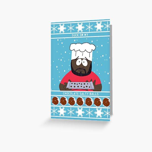 Chocolate Salty Balls Greeting Card