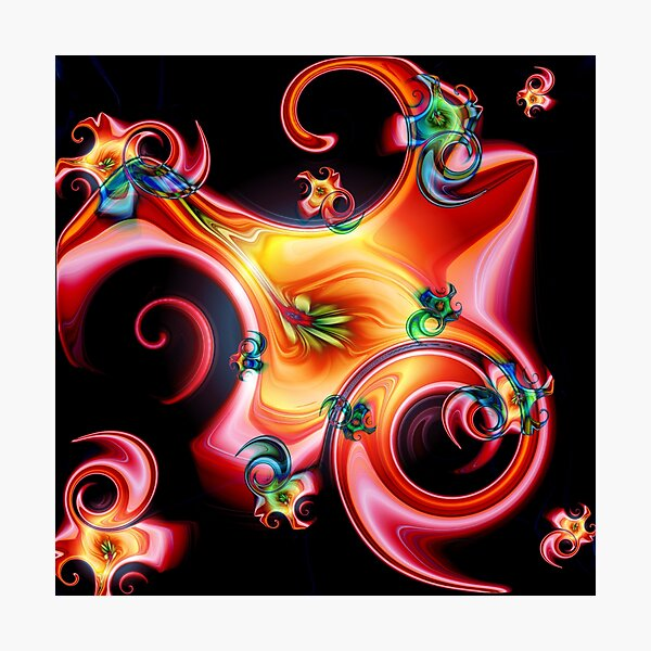 Fraktale Blüten abstrakt Fotodruck