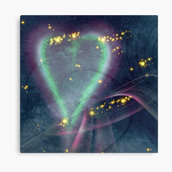 Herz im Raum Leinwanddruck