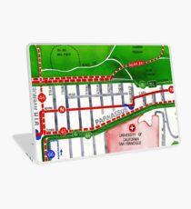 San Francisco map - Inner Sunset map Laptop Skin
