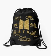 "BTS - Logo + Signaturen ""Black & Gold"" Turnbeutel"
