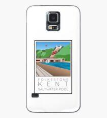 Lido Poster Folkestone Saltwater Case/Skin for Samsung Galaxy