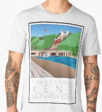 Lido Poster Folkestone Saltwater Men's Premium T-Shirt