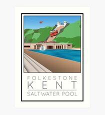 Lido Poster Folkestone Saltwater Art Print