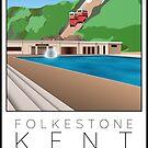 Lido Poster Folkestone Saltwater by Steven House