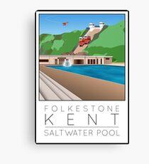 Lido Poster Folkestone Saltwater Canvas Print
