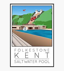 Lido Poster Folkestone Saltwater Photographic Print