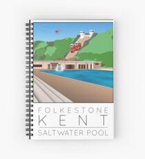 Lido Poster Folkestone Saltwater Spiral Notebook