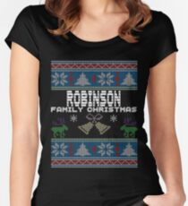 Robinsons Ugly Family Christmas Gift Idea Women's Fitted Scoop T-Shirt