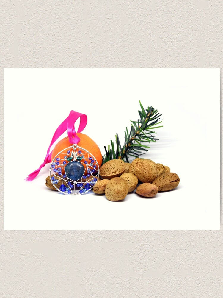 Alternate view of Christmas wishes; Christmas card; card for jewelry lovers Art Print