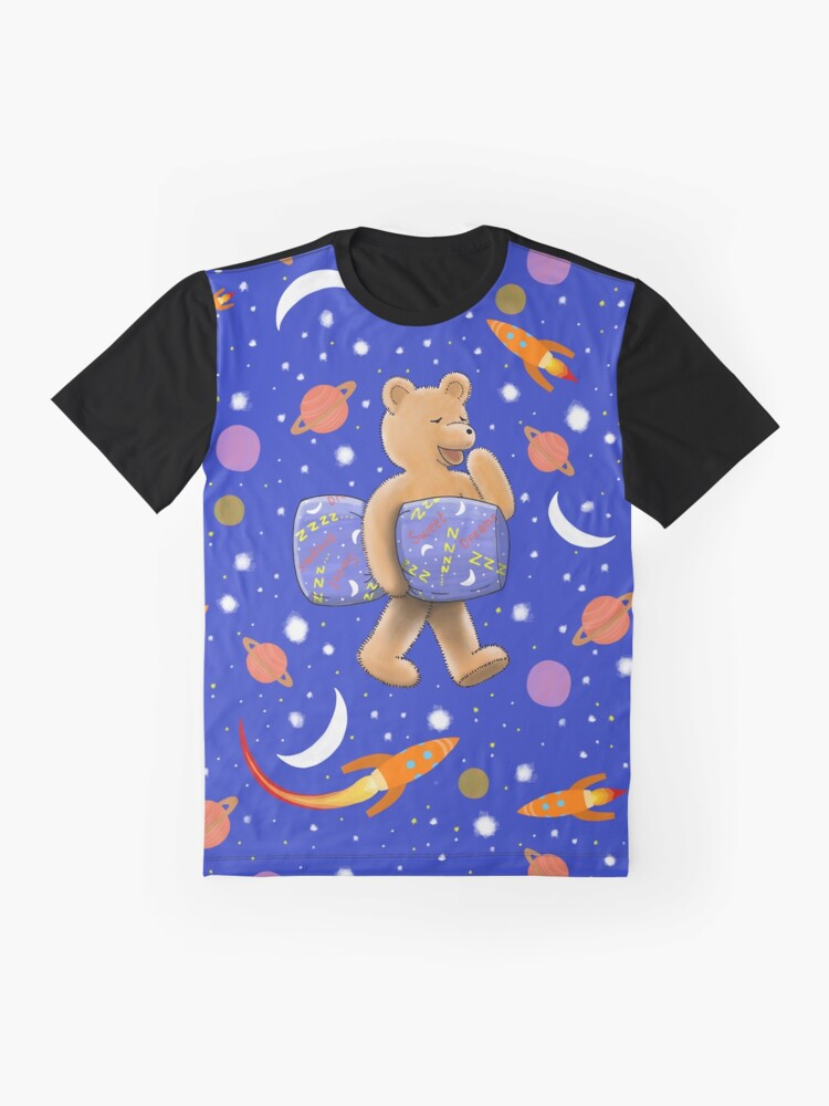 Alternate view of Sweet dreams sleepy bear Graphic T-Shirt