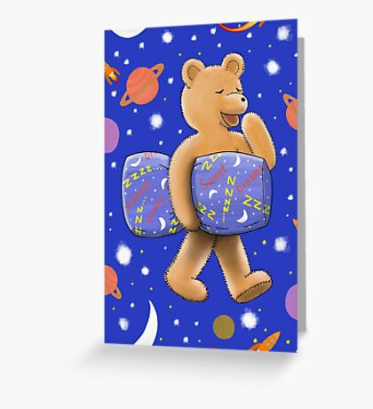 Sweet dreams sleepy bear Greeting Card