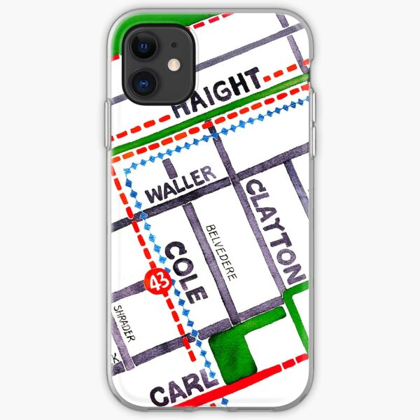 San Francisco map - Haight Ashbury/Cole Valley iPhone Soft Case