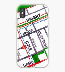 San Francisco map - Haight Ashbury/Cole Valley iPhone Case