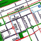 San Francisco map - Haight Ashbury/Cole Valley by Localist