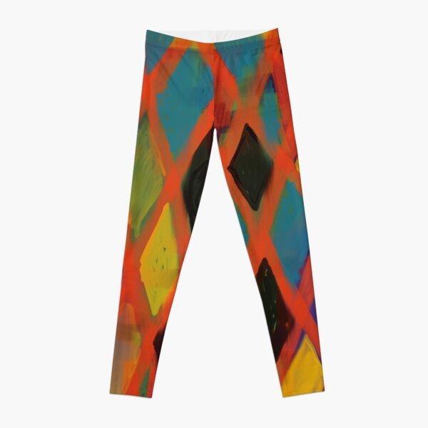 Colorful Harlequin  Leggings