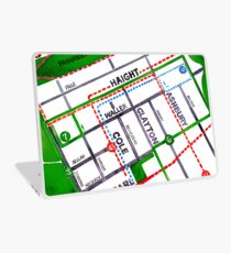 San Francisco map - Haight Ashbury/Cole Valley Laptop Skin