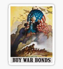uncle sam world war 2 retro poster Sticker