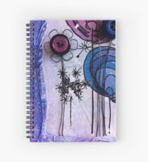 Button Flowers and Dandelion Seeds Spiral Notebook