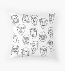Einzellinie Gesicht Design Pattern Dekokissen