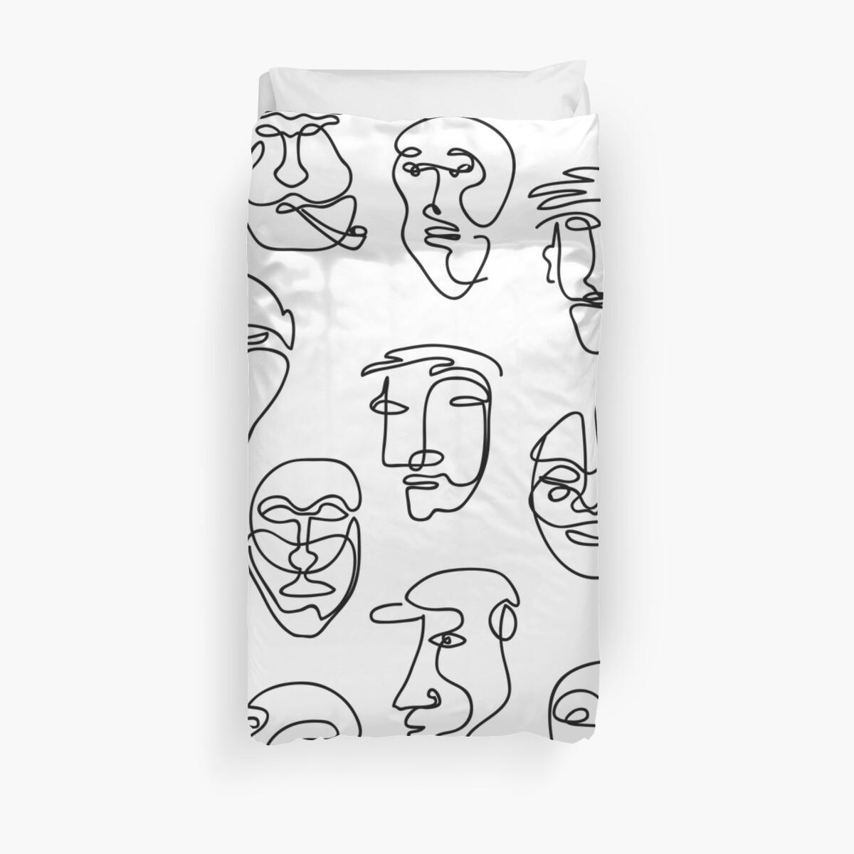 Einzellinie Gesicht Design Pattern von bicone