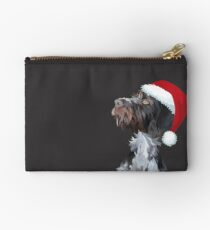 Christmas Wire Haired Pointer Studio Pouch
