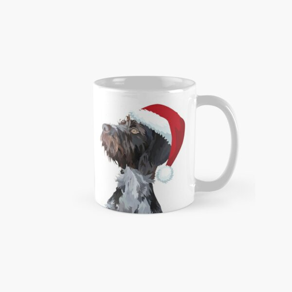 Christmas Wire Haired Pointer Classic Mug