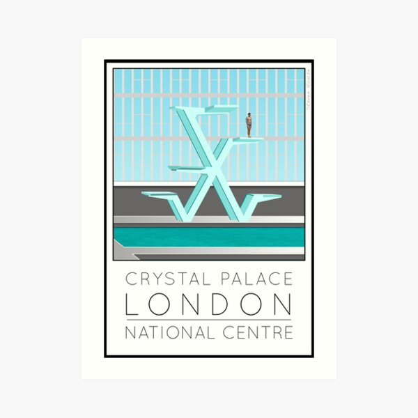Lido Poster Crystal Palace Art Print