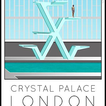 Lido Poster Crystal Palace by stevenhouse