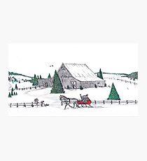 A Christmas barn Photographic Print