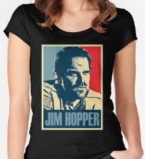 Jim Hopper for President Women's Fitted Scoop T-Shirt