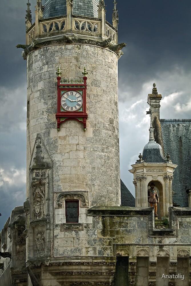 Clock Tower of La Roshelle's City Hall by Anatoliy
