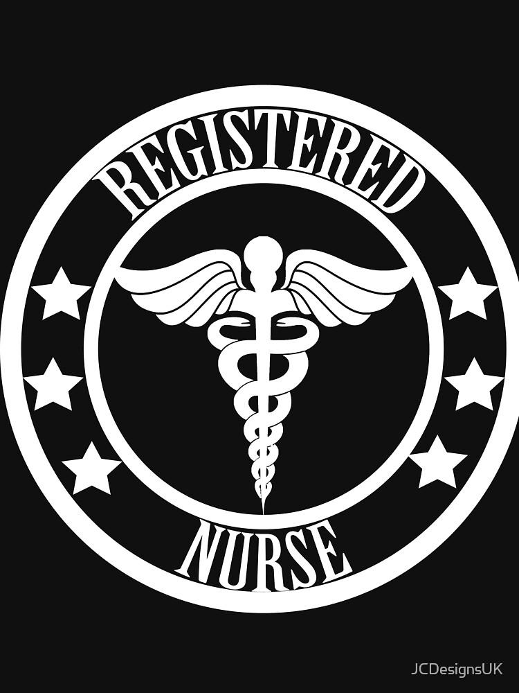 Registered Nurse - Schwarz und Weiß von JCDesignsUK